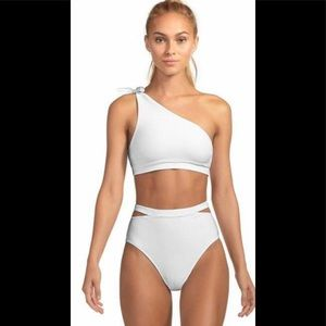 New! Vitamin A White Two Piece Swimsuit